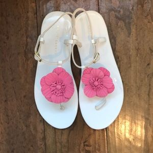Ralph Lauren big girls pink flower sandals